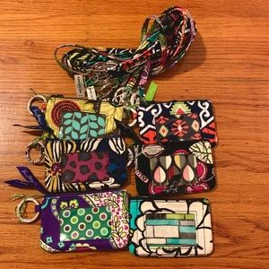 Six sets of msic Vera Bradley ID case and lanyard